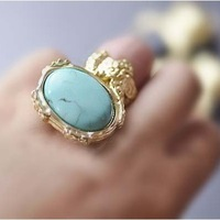 Sunshine jewelry store vintage classic big gem ring for women ( min order $10 mixed order )