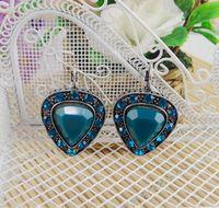 Fashion accessories vintage imitation gem multicolor stud earring earrings