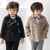 New korean style baby boys autumn winter coat kids outerwear trench winter coat jacket