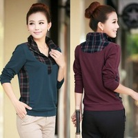 2013 spring and autumn clothes women's T-shirt o-neck long-sleeve sweater female slim women's basic shirt