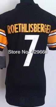 Fashion Brand#7 Ben Roethlisberger Women Jersey White/Black Rugby Football Jerseys American Game Lady's Jersey Size S M L XL XXL