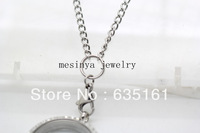 24'' 316 Stainless steel 3mm width new style O ring chain for floating charm glass locket keepsake,no locket