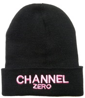 CHANNEL ZERO Beanies hats winter knitted caps classic black 6 styles head wear top quality Free shipping