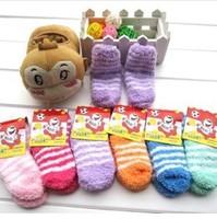 Free Shipping Hot Keep Warm Baby Infant Winter Autumn Socks Cotton Socks Soft Comfort Children Floor Socks 10pcs=5 pairs Gift