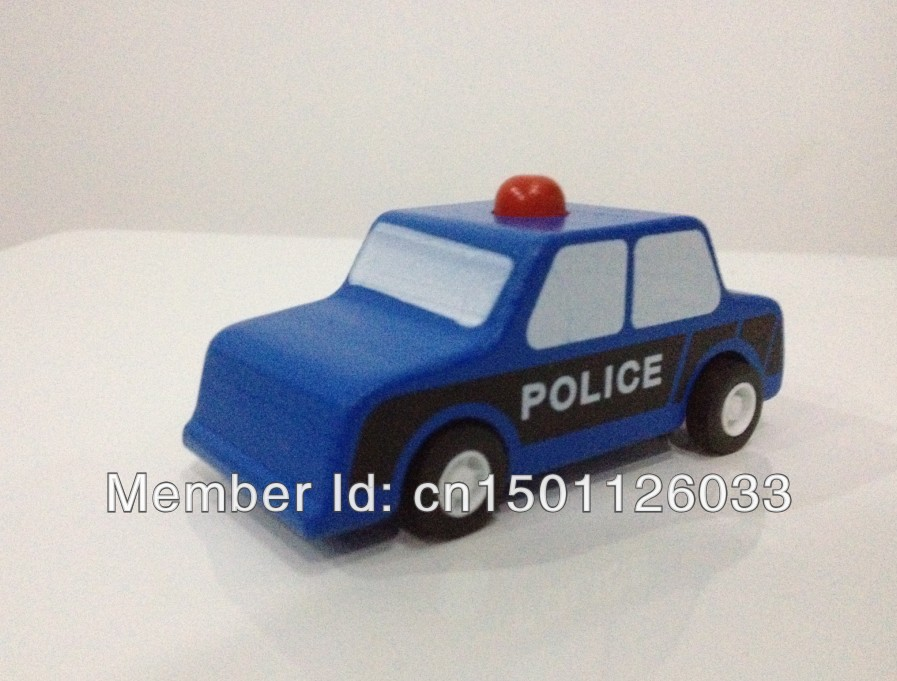 Educational toy car, beech wood car ,pullback auto models,mini toy car pull-back motor police car(China (Mainland))
