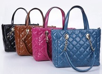 2013 fashion new arrival hot-selling women's plaid bag genuine leather  handbag shoulder bag vintage tote bag LF06651a