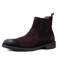 Winter shoes men's fashion denim boots martin boots suede men's cowhide boots vintage male socket boots