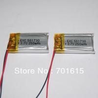 wholesale MP3/bluetooth rechargeable 501730 li-polymer battery 250mAH 5*17*30mm, 100pcs/lot