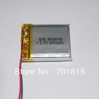 Wholesale 600mAH 6.0*30*35mm 3.7V li-polymer battery for for GPS ,portable power supply ,50pcs/lot