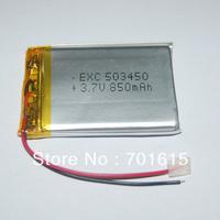 Wholesale 850mAH 6.0*30*35mm 3.7V li-polymer battery 503450 for for GPS ,portable power supply ,100pcs/lot