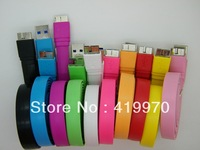Newest 10 Color 8 Pin USB Charge Cable for Samsung Galaxy Note 3 III N9000 N9002 N9006 N9008 Charge Sync Data Cable,-9.0R.