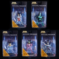 Original 2003 Bandai Saint Seiya Moving Soldier Full Set of 5 Figure Pegasus Dragon Cygnus Andromeda & Phoenix