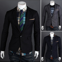 Free shipping fashion 2013 slim fit blazer men suits for wedding fashion blazer, M-XXL,SU2023