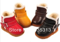 4 colours fiber inside all $15  no box packing baby  Winter Boots boys girls Snow Boots Hasp Cotton Boots Baby Warm Shoes