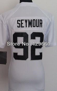 Sale Promotion #92 Richard Seymour Women Jersey White/Blue Rugby Football Jerseys American Game Lady's Jersey Size S M L XL XXL