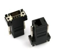 10pcs/lot VGA LAN CAT5 CAT 5e RJ45 Female Adapter Transmits Signals Up 100 FT For Computer DVR Game Consoles 5 Set #AJ108