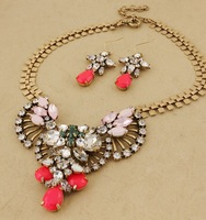 2013 New Arrival  JC luxury Jewelry set  JC necklace earrings vintage jewelry colorful