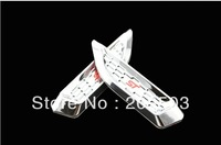 ECOSPORT   shark gills side door vent hood chrome wing stickers affixed generic models flanking
