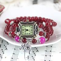 2014 New Fashion Ladies Watch Brand Quality Handmade Beaded Watch Women's Wristwatches Quartz Women Dress Watches