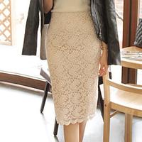 Spring And Fall  Women's Elegant OL  Lace Bust Skirt Slim hip Skirt Medium Skirt Customize