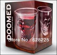 wholesale 10/lot New Arrival! Doomed Pirate Skull Shot Glass/ Crystal Skull Head Vodka Shot Wine Glass Novelty Cup,gift