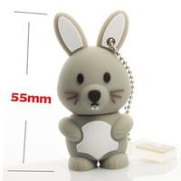 2G /4G /8G /16G/  32G Gray !New Cartoon Rabbit modle USB 2.0 memory stick Flash Drive