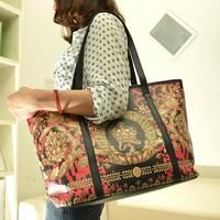 Fashion brief vintage elegant women's big bag national trend all-match portable women's one shoulder handbag