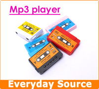Mini Portable Tape Style mp3 Music Player With Micro SD Card Slot Support 1-8GB TF Card, Great Gift for Xmas!