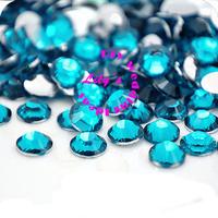 ss20 blue zircon foil flat back rhinestones,loose rhinestones for wedding decoration , 8 bags/lot,DIY Wedding Supplies,
