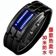 Reloj Led macho moda para hombre reloj electrónico los amantes impermeables multifuncional ver
