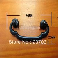 Decoration small drawer handle / surge black handle / Siamese / alloy retro handle 70 * 25