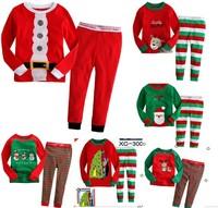 christmas shirt+pants pajamas cartoon baby pajamas of the children christmas boy girl homewear kids outerwear clothes