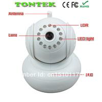 P2P Plug&Play WiFi Wireless WPA Internet Dual Audio IR Night Vision PanTilt CCTV Security Webcam Network IP Camera  TT-0004