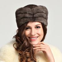 Fashion Women fur hat autumn and winter mink hair hat mink hat h68