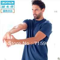 Free Shipping!100% Cotton Men's Brand 2013 New sports T-shirt loose round collar short sleeve with xxxl bigger sizes