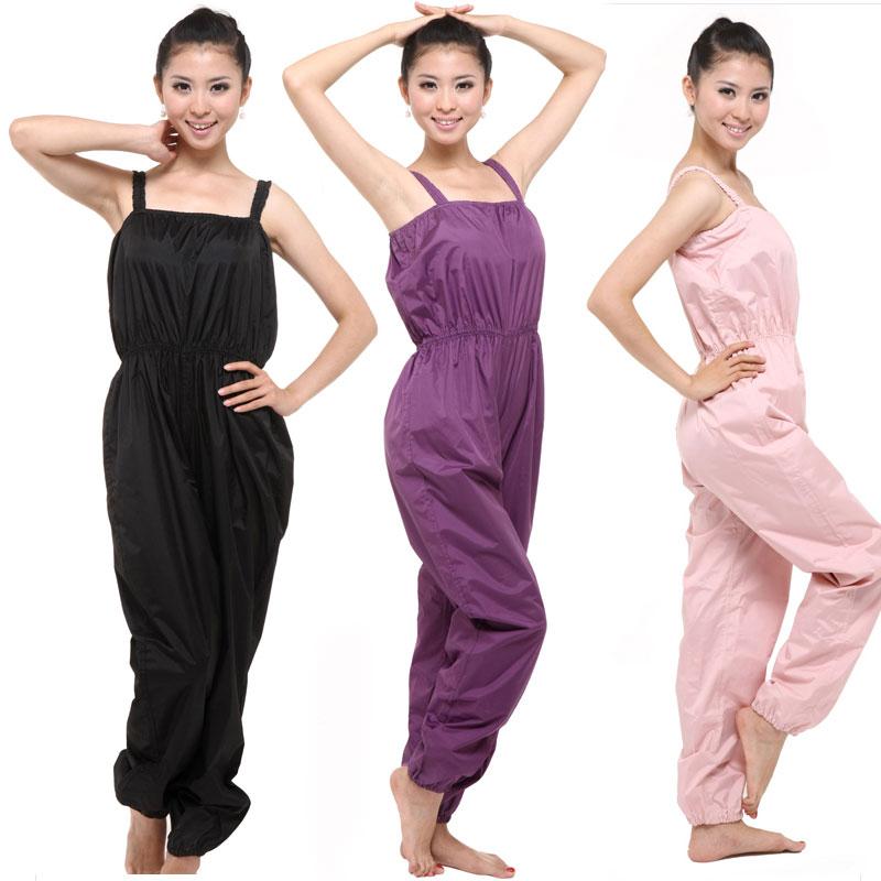 Plus size spaghetti strap slimming pants sweating clothing girls weight loss service sauna pants sauna service dance pants(China (Mainland))