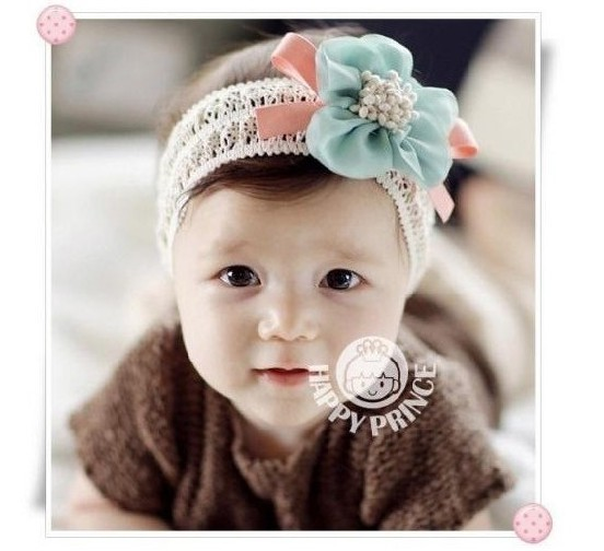 Cotton ribbon baby hair of children with a stylish appearance(China (Mainland))