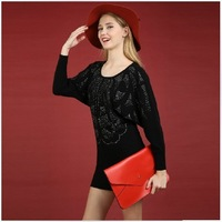 Winter 2013 women's pure cashmere sweater V-neck fashion diamond cashmere sweater cashmere sweater