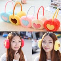 Thermal  earmuffs female heart ear package faux fur earmuffs plush ear free shipping
