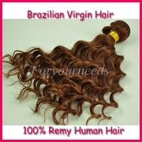 Fashion #33 dark auburn 3pcs 100%  human hair weaves  8-28inch mixed length Free shipping 5A Brazilian virgin hair extensions