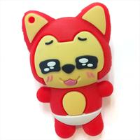 New Genuine cartoon lovely fox usb 2.0 memory stick flash drive pen drive gift 2G/4G/8G/16G/32G