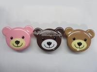 Free Shipping 2013 Unlocked Luxury  Teddy Bear Flip Mobile Phone C110  Teddy Bear Flip Cell Phone Russian Keyboard Menu