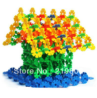1000pcs Free shipping  10colors 3.3cm diameter  snowflake pieces, High quality plastic material early childhood education