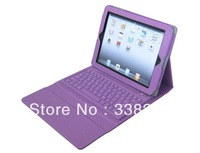 "Purple Bluetooth Keyboard Leather Case For 10.1""  Tab2 P5100/P5110"