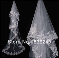 Free Shipping Best Selling Appliques Beautiful More Than 2.5m Bridal Wedding Accessories Bridal Veil