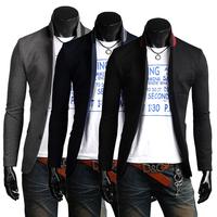 Free shipping 2013 casual jacket male blazers fashion slim fit blazer tops men, M-XXXL,SU2038