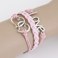 Min.order is $12 (mix order) Fashion Personalized  Heart to Heart LOVE  bracelet