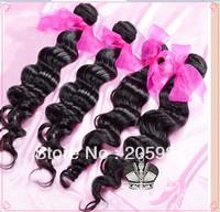 Hair Queen hair products brazilian loose wave,100% human virgin hair ,Grade 5A,unprocessed hair