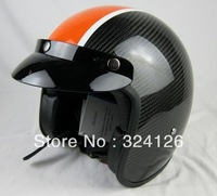 Free shipping 2013 Newest Carbon Fiber Visor full face motorcycle helmet racing helmet with Air bag