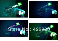 LED Smile Face Micro USB Charging Cable Cord Noodle Flat Glowing Flashing Cable for Samsung Galaxy S2 S3 S4 i9500 Note 2